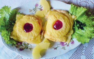 Filety z ananasem i żurawiną