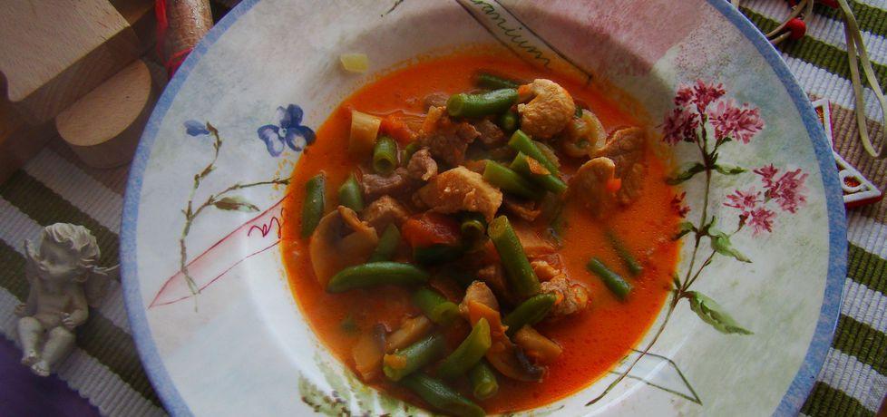 Zupa gulaszowa z zieloną fasolką (autor: iwa643)