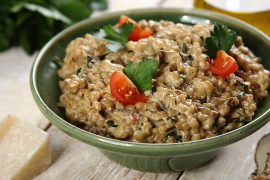 Pęczak z grzybami a la risotto