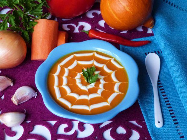 Przepis  pikantna zupa krem z dyni i marchewki przepis
