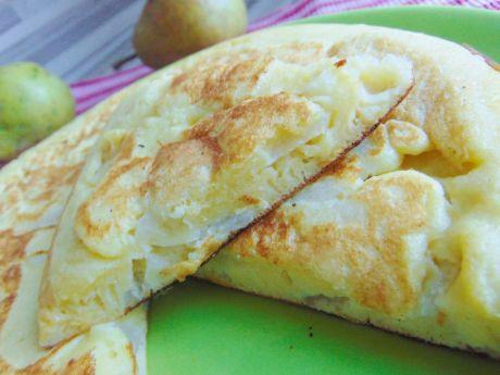 Przepis  puszysty omlet z gruszkami przepis