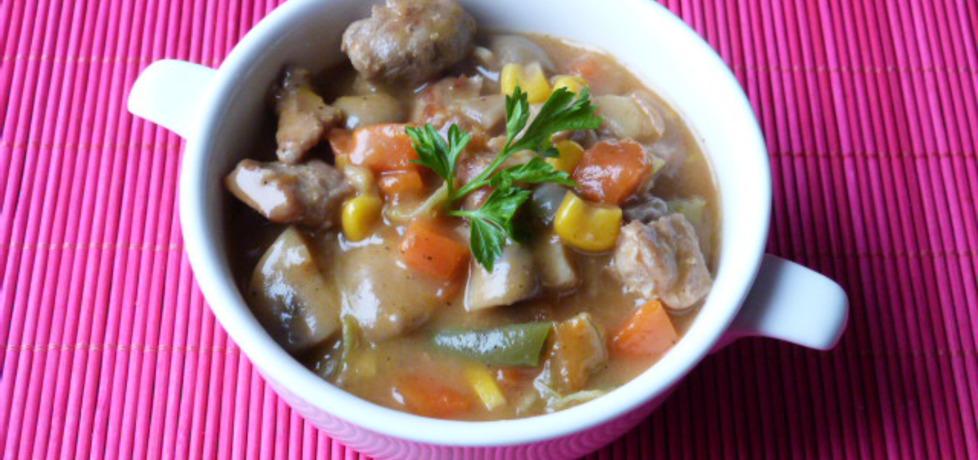 Gulasz z mięsa wieprzowego z warzywami (autor: renatazet ...