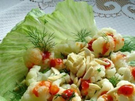 Przepis  sałatka z kalafiora z migdałami przepis