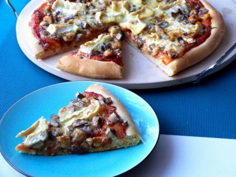 Przepis  pizza z mięsem i serem pleśniowym przepis