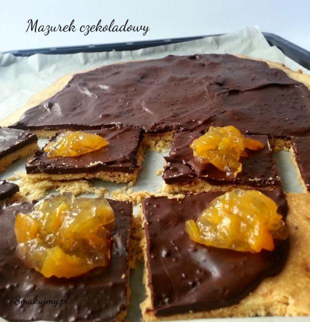 Mazurek czekoladowy  przepisy kulinarne