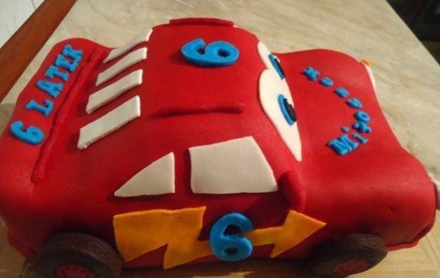Przepis  tort auto zygzak mcqueen przepis
