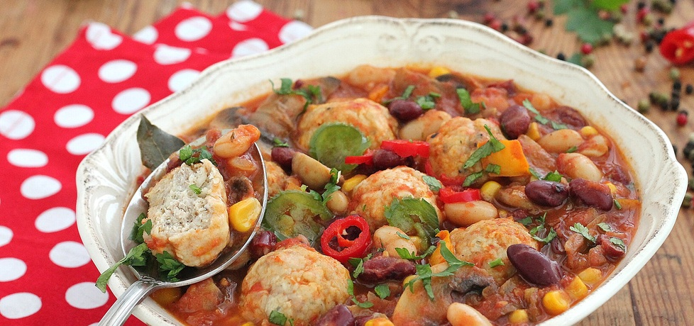 Zupa meksykańska z klopsikami (autor: mysza75)