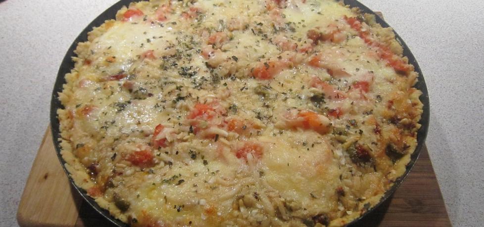 Tarta z pomidorami,oliwkami i kukurydzą (autor: kate131 ...