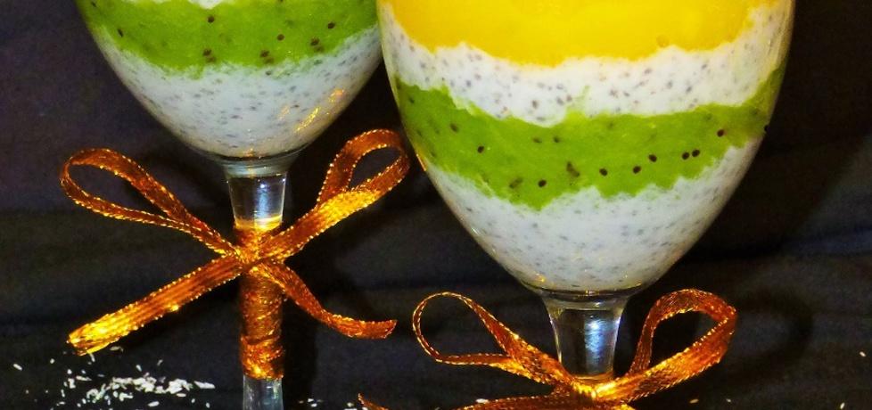 Pudding kokosowy z chia, musem z mango i kiwi (autor: patrycja33 ...