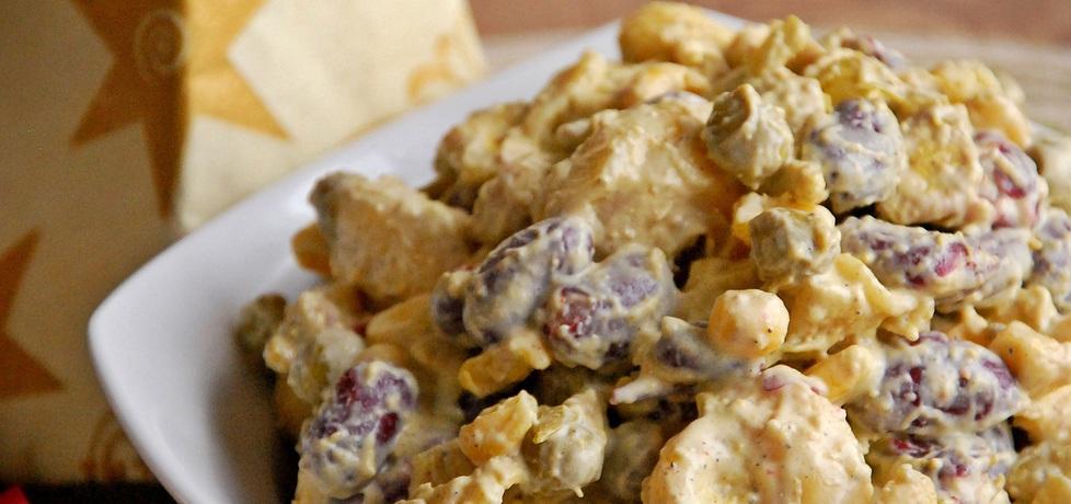Sałatka z kurczakiem, tortellini i czerwoną fasolką (autor: rzelkazag ...