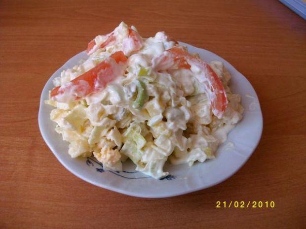 Przepis  sałatka z porów, jaj i ziemniaków przepis