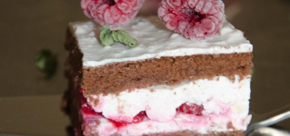 Tort czekoladowy przekładany serem z malinami (autor: rafal10 ...