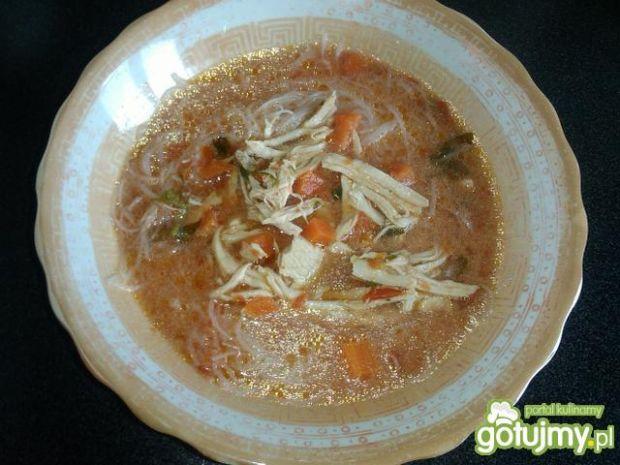 Zupa pomidorowa z makaronem ryżowym  kulinarne abc