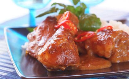 Pieczone pałki z kurczaka z chili
