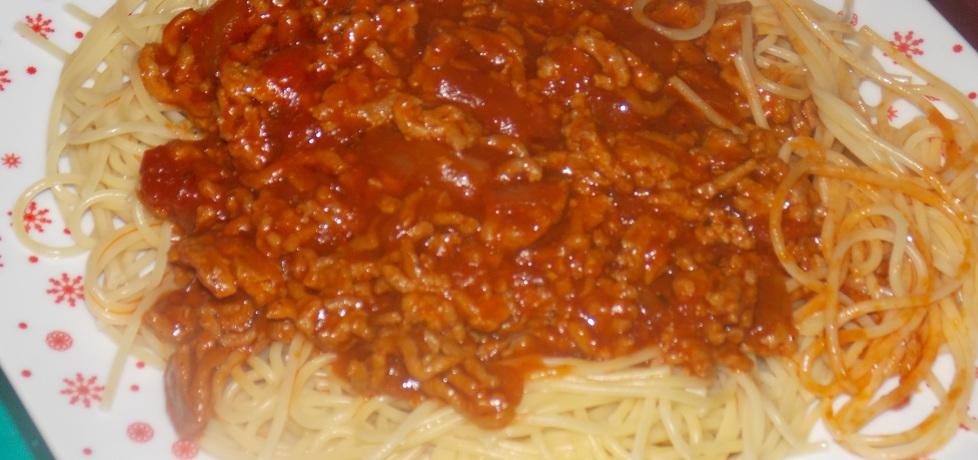 Makaron spaghetti z mięsem mielonym (autor: ewelinapac ...