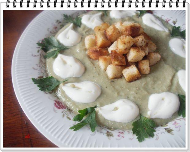 Przepis  kremowa zupa eli z bobu i cukinii przepis