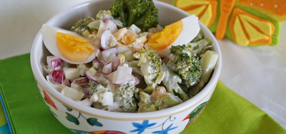 Sałatka brokułowa z jajkiem i rzodkiewką (autor: alexm ...