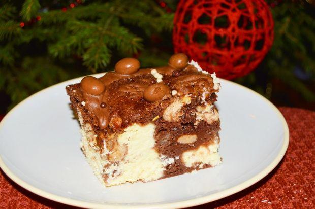 Przepis  sernik murzynek z ciasteczkami przepis