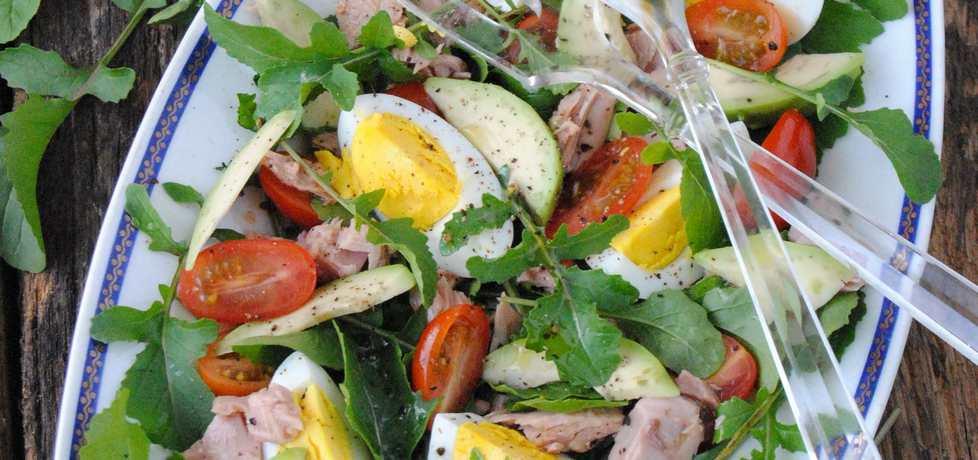 Sałatka z rukoli, tuńczyka i awokado (autor: jadwigajaga85 ...