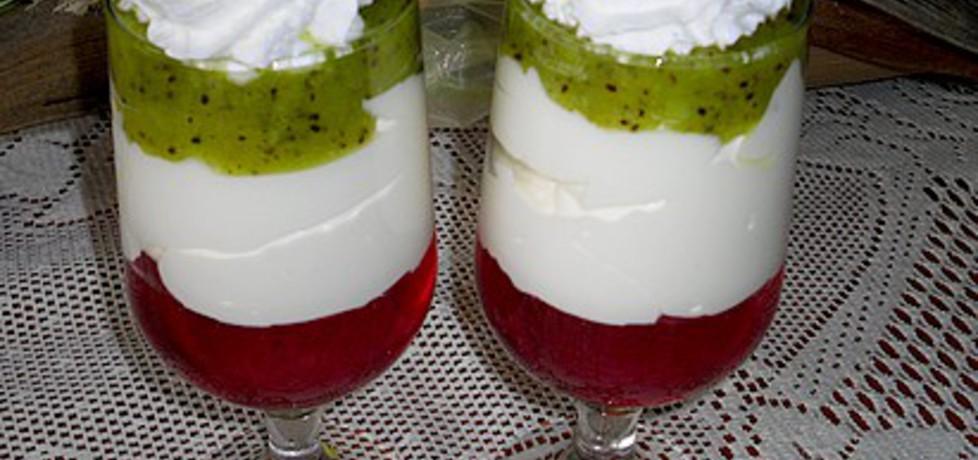 Tęczowy deser z serkiem mascarpone (autor: mysiunia ...