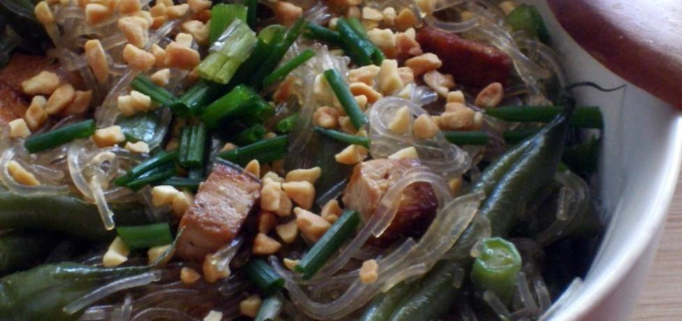 Makaron sojowy z tofu i fasolką szparagową (autor: agaaa ...