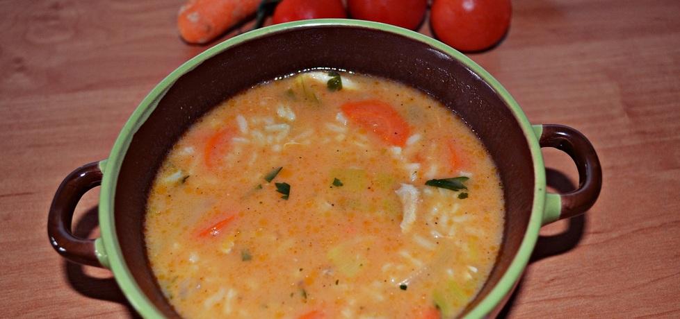 Zupa pomidorowa z ryżem (autor: duusiak)