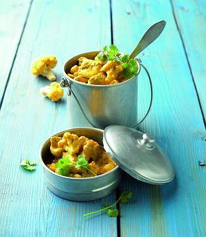 Curry kalafiorowo-drobiowe z nerkowcami