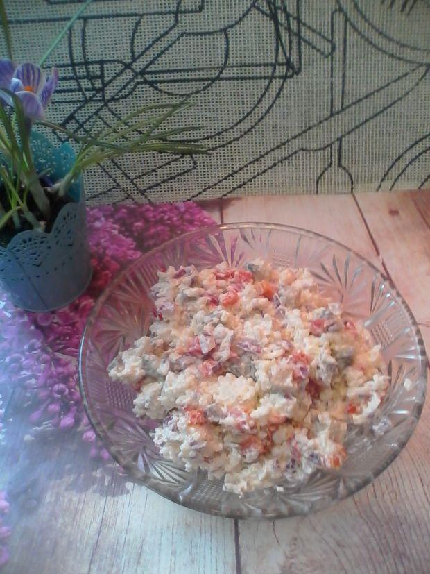 Przepis  sałatka ryżowa z matiasem przepis