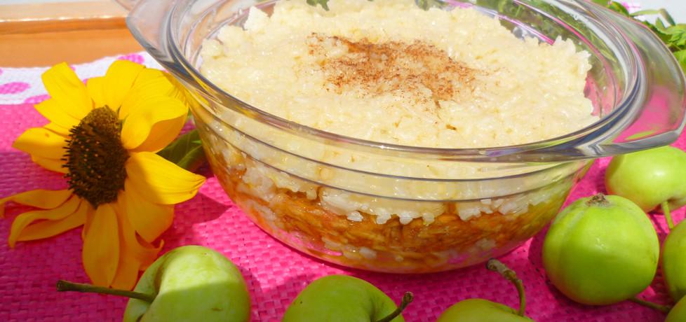 Zapiekany ryż na mleku z jabłkami (autor: marta-ryzek