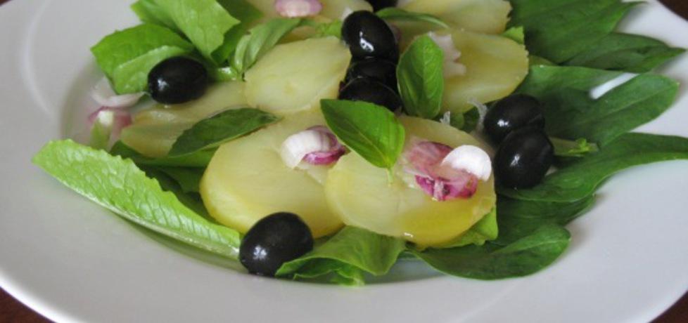 Sałatka z ziemniakiem, szpinakiem i oliwkami. (autor: anna169hosz ...