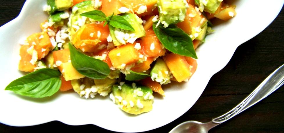 Egzotyczna sałatka z awokado i papaji (autor: caralajna ...