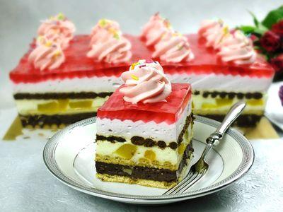 Brzoskwiniowe ciasto na zimno