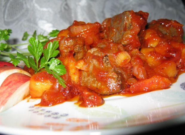 Przepis  wątróbka na pomidorowo przepis