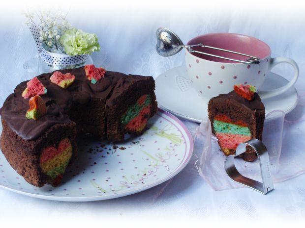 Przepis  czekoladowe ciasto z sercem przepis