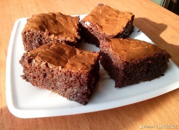 Super czekoladowe amerykańskie brownie