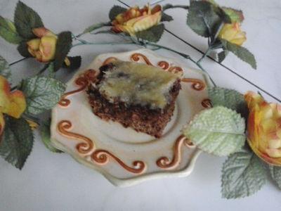 Ciasto kakaowe z wiśniami i kokosem