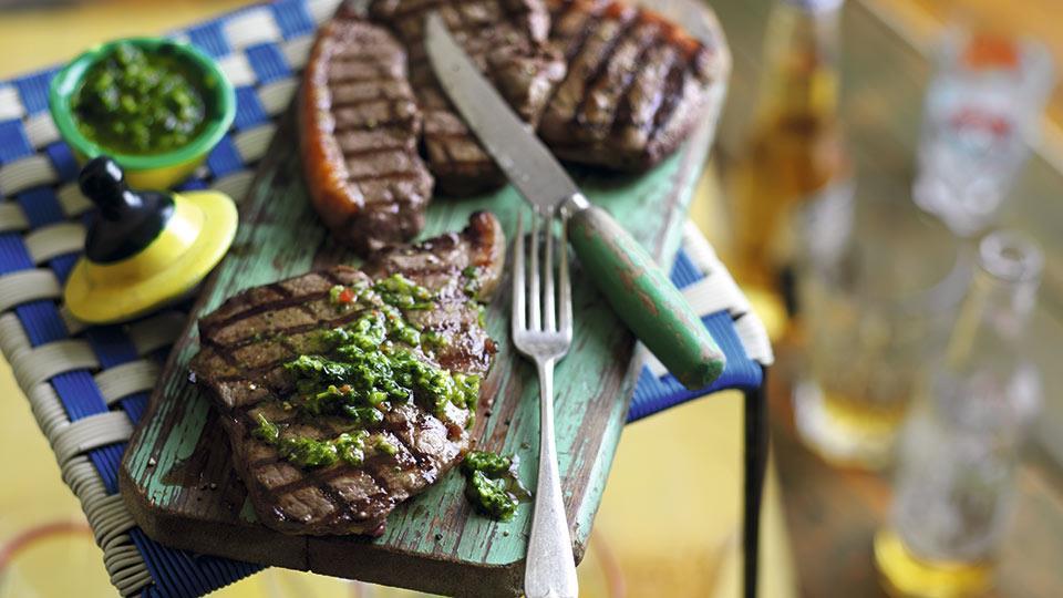 Stek z polędwicy wołowej z chimichurri