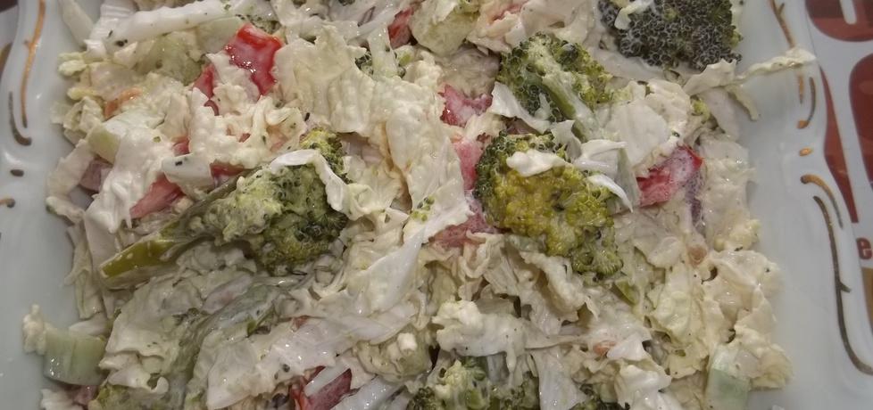 Surówka z pekińskiej z dodatkiem brokuła (autor: gosia1988 ...