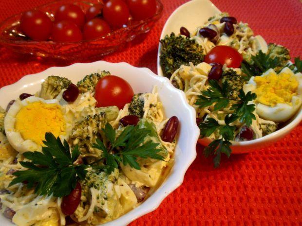 Przepis  sałatka z brokuła i czerwonej fasolki przepis