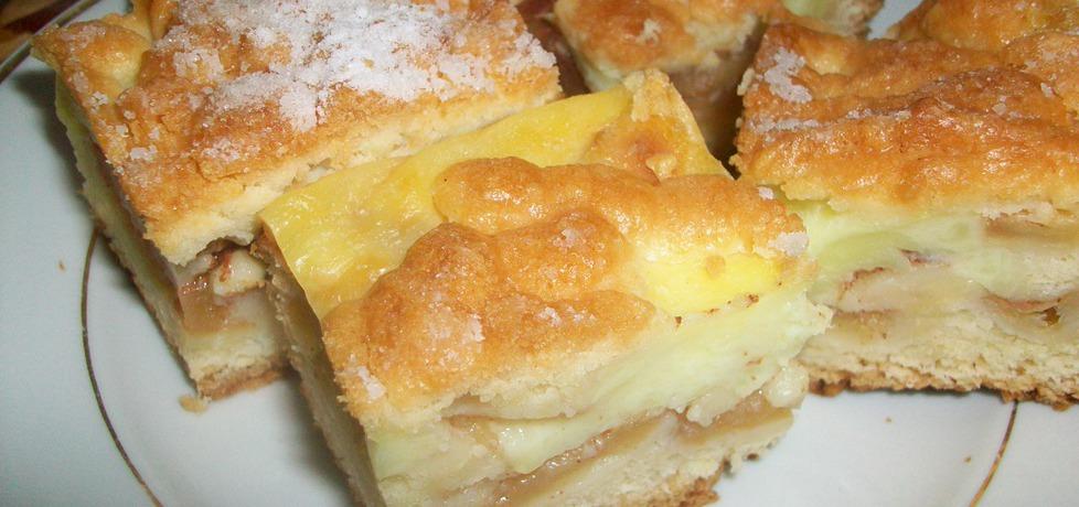 Kruche ciasto z jabłkami i budyniem. (autor: izabela