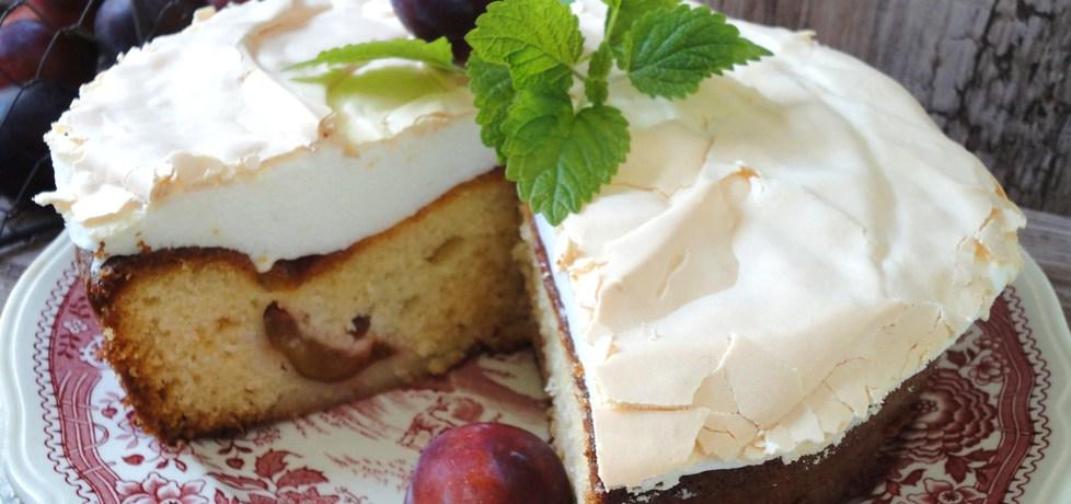 Ciasto ze sliwkami i bezową pianką (autor: klorus)