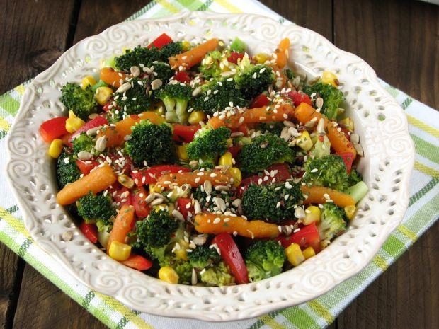 Przepis  lekka sałatka z brokułem przepis