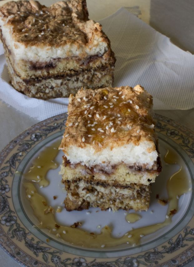 Przepis  ciasto sezamowiec przepis