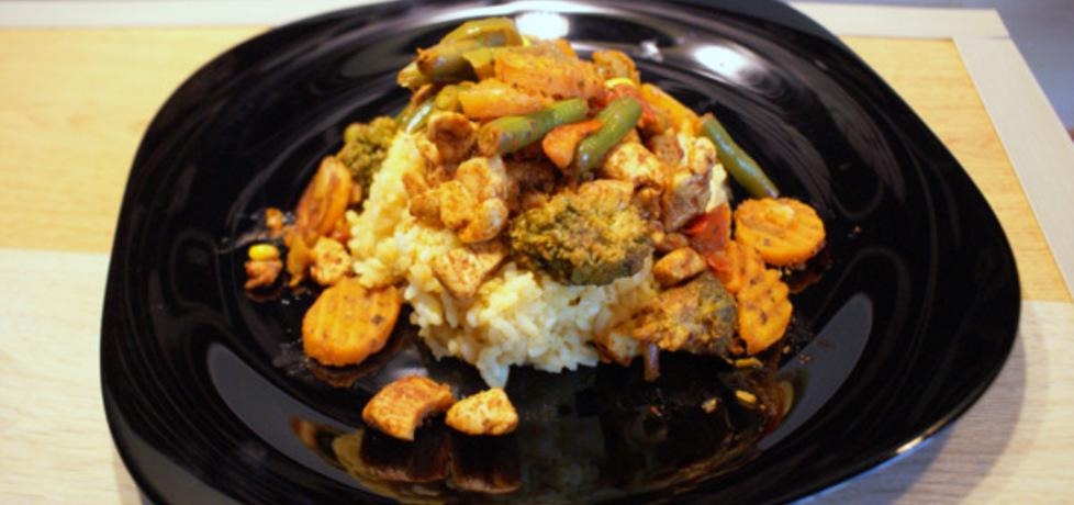 Ryż z warzywami i kurczakiem na ostro (autor: misiasty87 ...