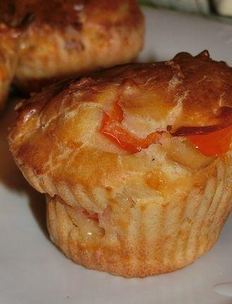 Przepis  muffiny z szynką i żółtym serem przepis