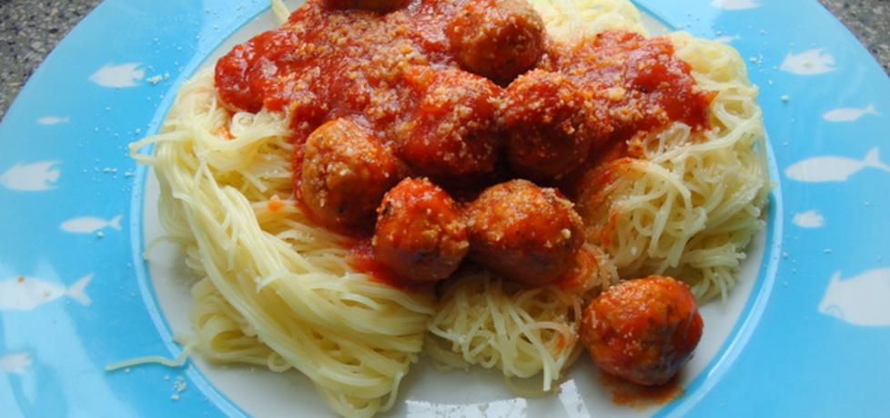 Cieniutkie spaghetti z pulpecikami (autor: agnieszka189 ...