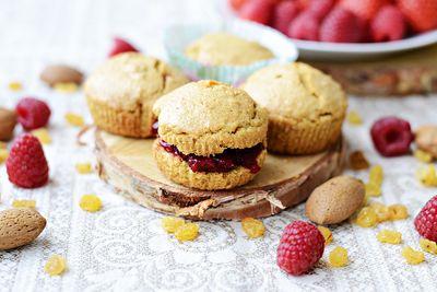Śniadaniowe kruche muffiny owsiane