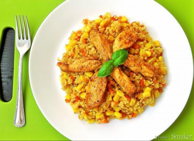 Kurczak gyros z bulgurem i warzywami