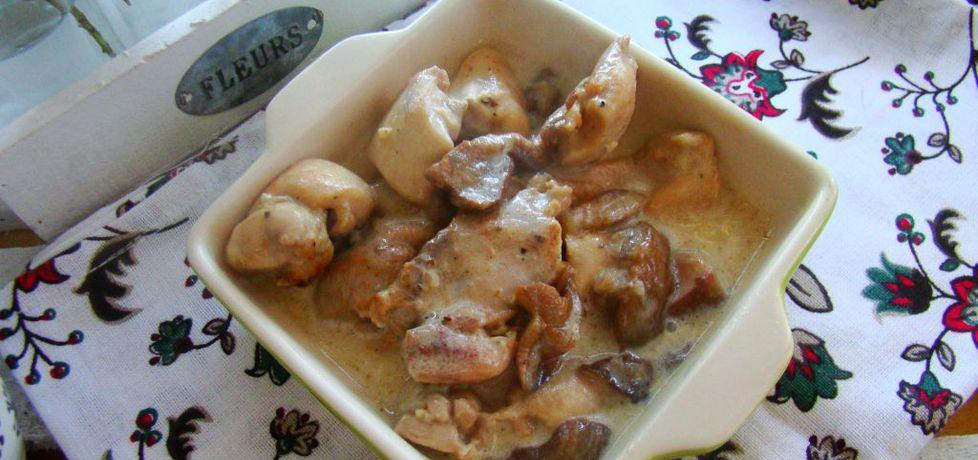 Kurczak z maślakami na krótko (autor: iwa643)