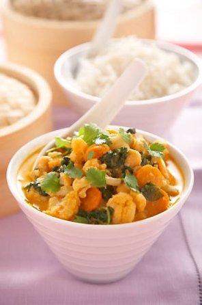 Czerwone curry z warzywami  prosty przepis i składniki